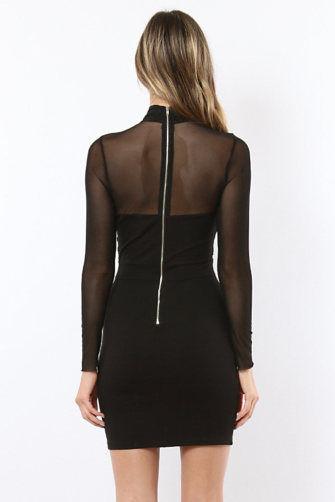 Imogen Sheer Bodycon Mini dress