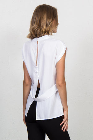 Open Back Top with Front Pocket