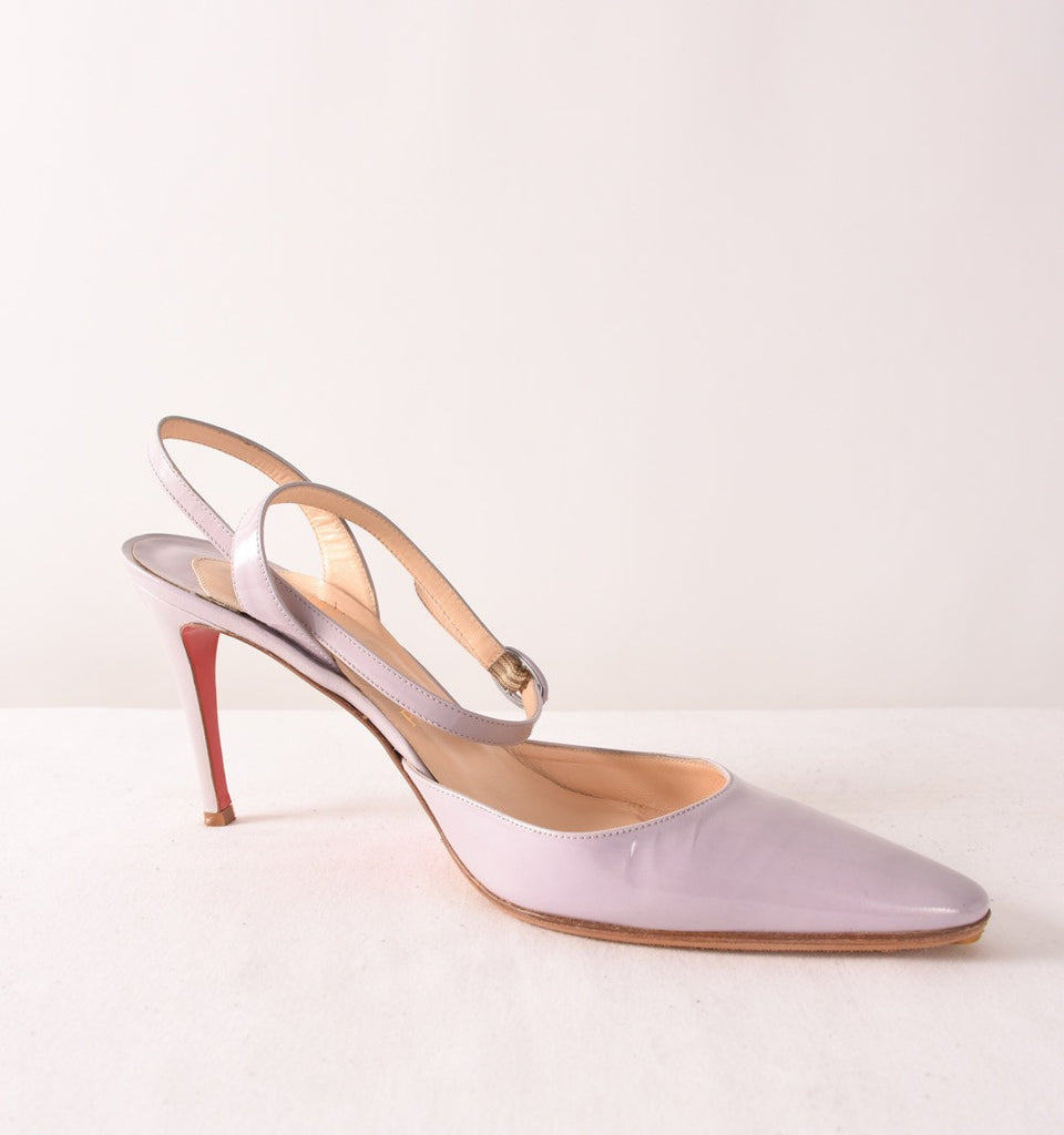 CHRISTIAN LOUBOUTIN Patent Leather Pumps | Size 10.5