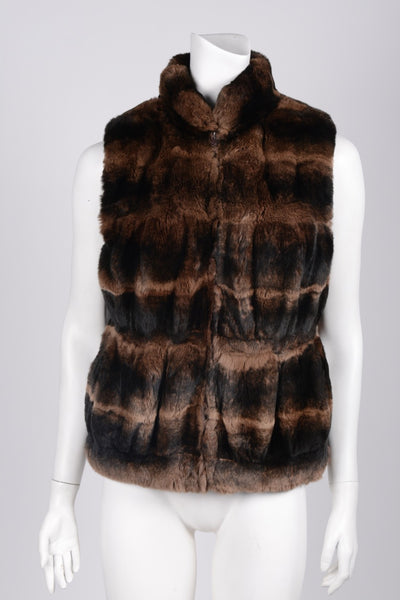 Fur Beaver Vest - Crave Luxury Consignment  - 1