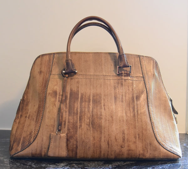 VBH Limited Edition Eel Skin Bowler Bag