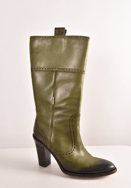 GUCCI Leather Knee High Boots | Size 8