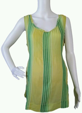 Old Navy Maternity Lemon-Lime Striped Sleeveless Tunic