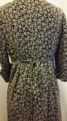 Motherhood Maternity Black & White Floral Wrap-style  Dress