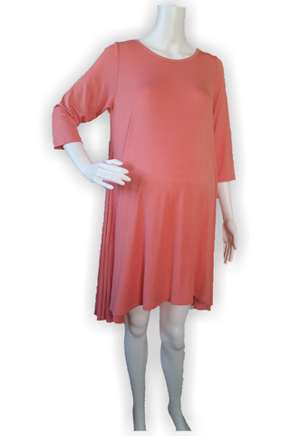 Coral Hi-low Hem Dress