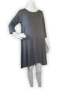 Grey Hi-low Hem Dress