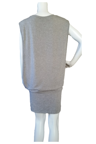 Sleevless Banded Hem T-shirt Dress