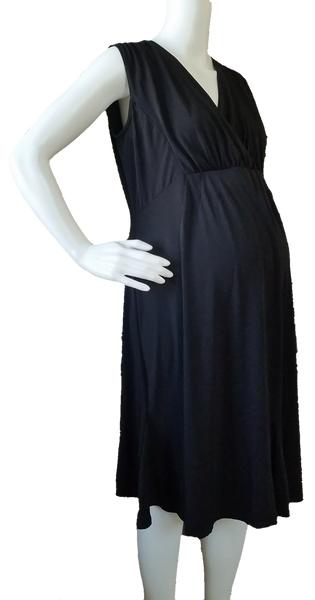 Old Navy Maternity V-neck Knit Black Dress