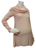 Lightweight Tunic Sweater with Cowl-neck