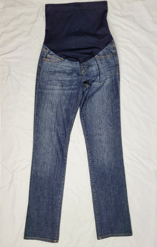 Liz Lange Full Panel Dark Wash Straight Leg Jean
