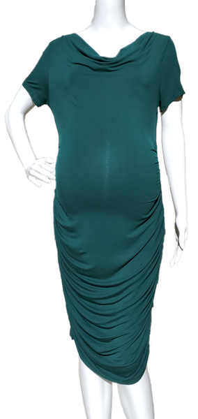 PattyBoutik Mama Emerald Cowl Neck Dress
