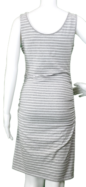 Gray & White Striped Tank Dress