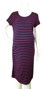 Liz Lange Maternity Pink Striped T-shirt Dress
