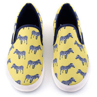 Yellow Zebra Slip on