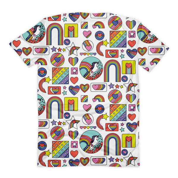 Retro Rainbow sublimation t-shirt