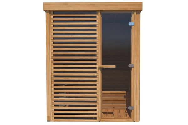 Urban Cedar Glass Compact Indoor Sauna (6x6FT)