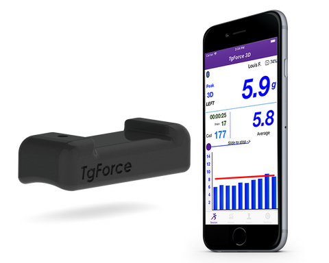 TgForce 3D Impact Running Sensor