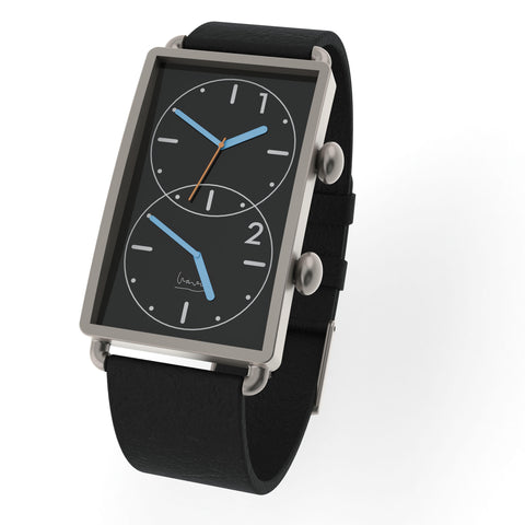 Black Grand Tour Dual Time Watch