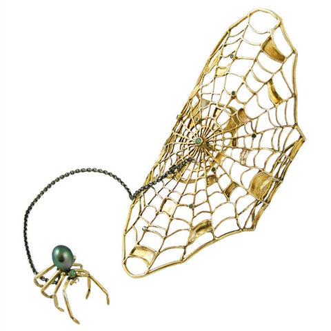 Spiderweb Bracelet With Ring