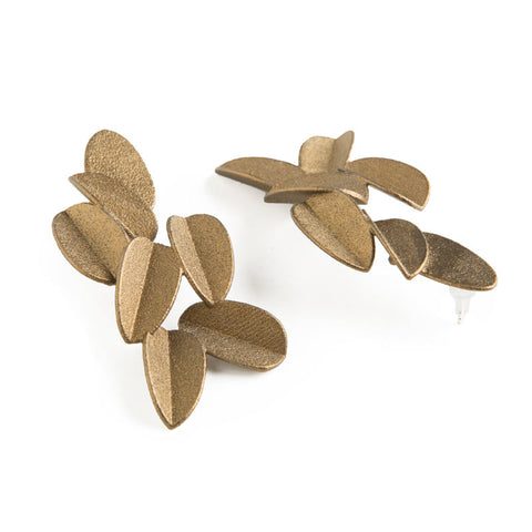 Gold Leaves Earrings (Large)