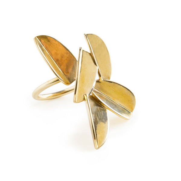 Leaves Ring (Brass)
