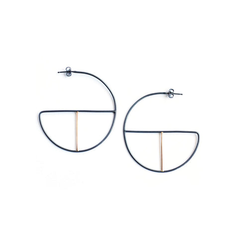 Intersect Petite Hoops
