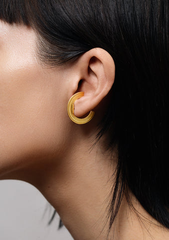 Orbit Small Radius Lobe Cuff Earrings