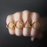 Hexagon Silhouette Ring