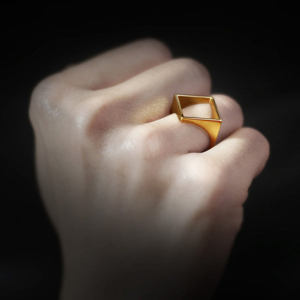 Square Silhouette Ring