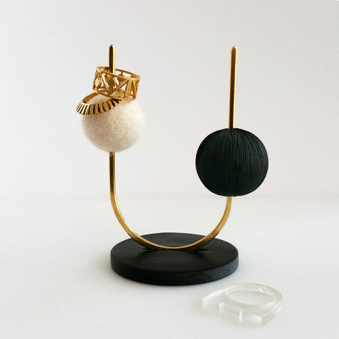 Dots Ring Stand (Black)