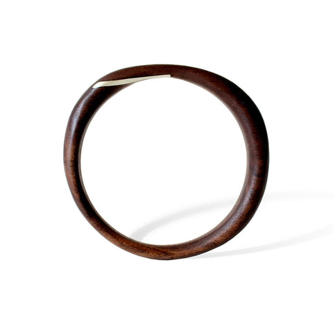 Altered Inlay Bangle (Walnut)