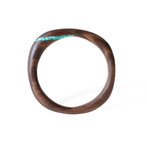 Color Inlay Bangle (Walnut)