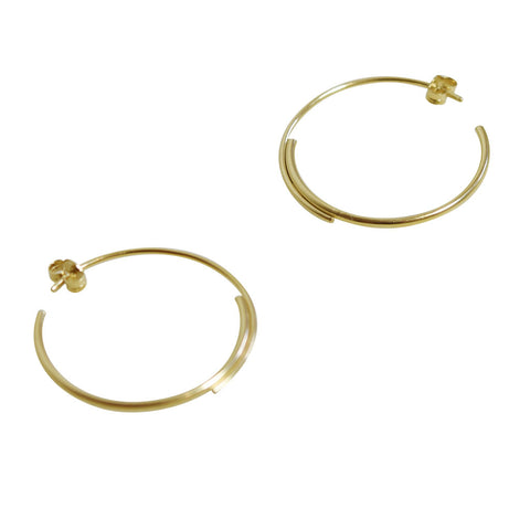 Gold Filled Hoop Earrings N°5