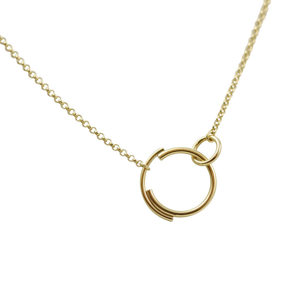 Interlocking Circle Necklace N°6