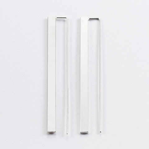 3D Flat Bar Earrings (Long)