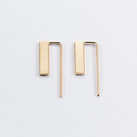 3D Flat Bar Earrings (Short)