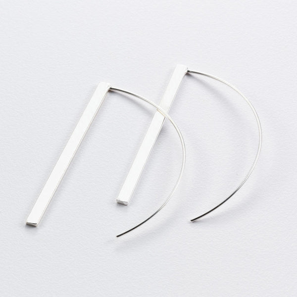 Vertical Slash Hook Earrings