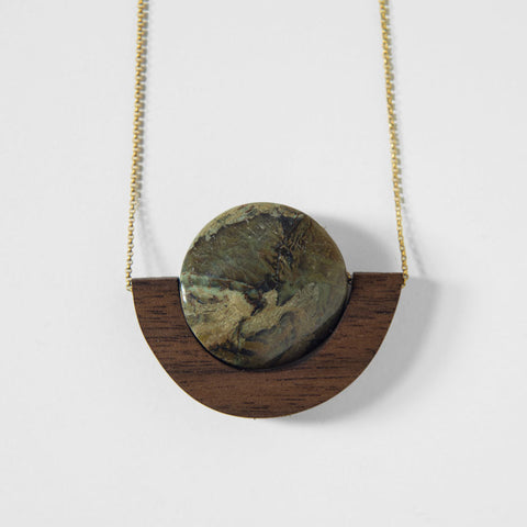 Serpentine Walnut Necklace