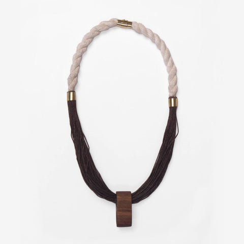 Woven Walnut Necklace