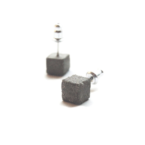 Concrete Cube Earrings