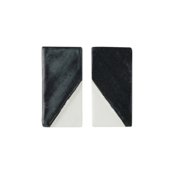 Notch Rectangle Earrings