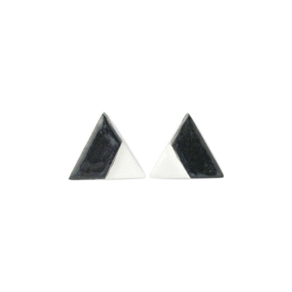 Notch Triangle Earrings