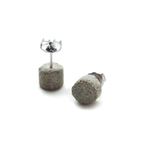 Concrete Cylindar Earrings