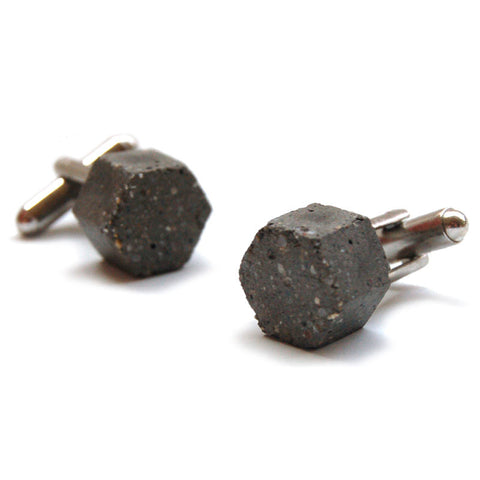 Hexagon Concrete Cufflinks