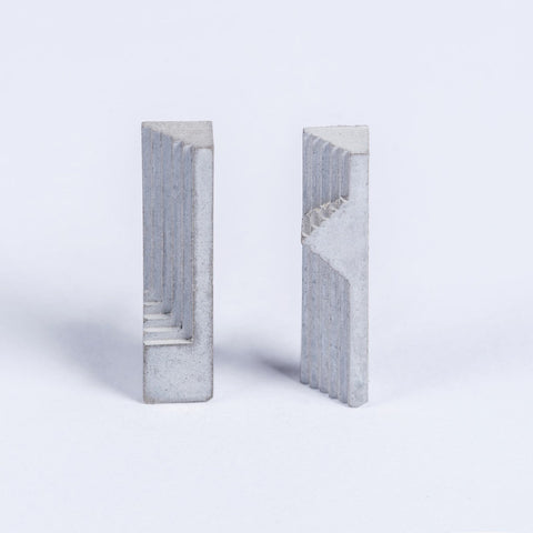 Micro Concrete Earrings #7