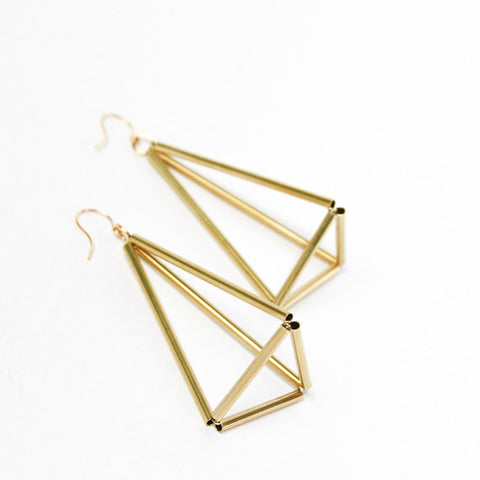 Pyramid Himmeli Earrings