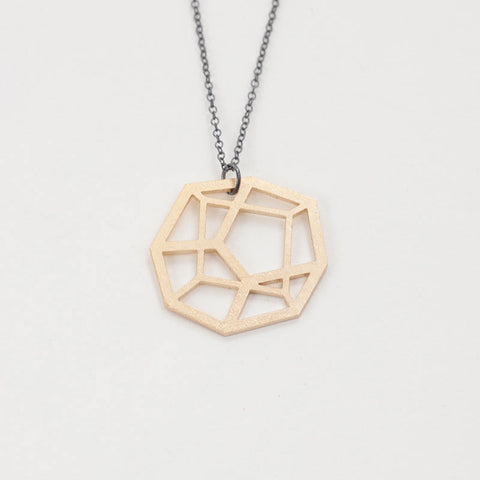 Metal Pentahedron Necklace
