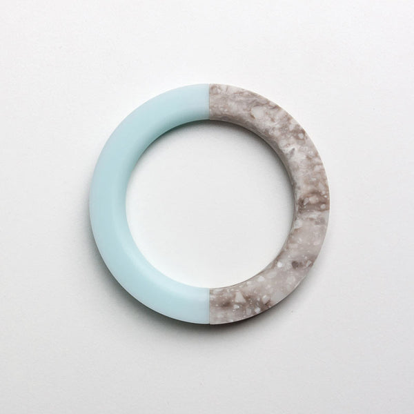 North South Bracelet: Round Mint Ice / Round Hazelnut