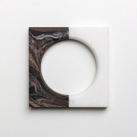 North South Bracelet: Square Arctic Ice / Square Sorrel