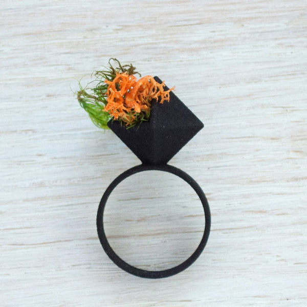 Diamond Wearable Planter Ring